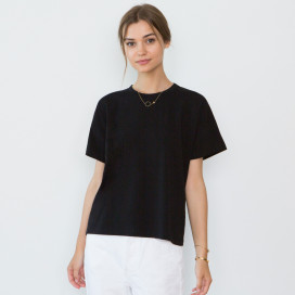 Bevin Organic Cotton Boyfriend T-shirt by Santicler on curated-crowd.com