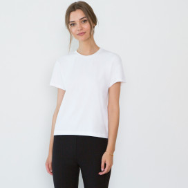 Adry Organic Cotton Crew Neck T-shirt by Santicler on curated-crowd.com