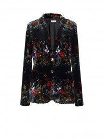 Black Dandelions Blazer by Ailanto on curated-crowd.com