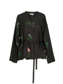 Poppies Embroidered Jacket by Ailanto on curated-crowd.com