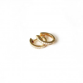 Ray Diamond Earrings In Yellow Gold by Jewelry Lab on curated-crowd.com