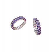 Royal Purple Ring by Lalou London on curated-crowd.com