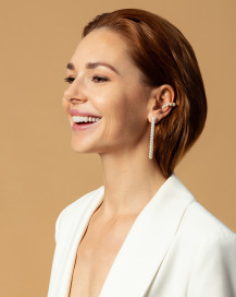 Snail Gold Earcuff With White Pearls by Jewelry Lab on curated-crowd.com