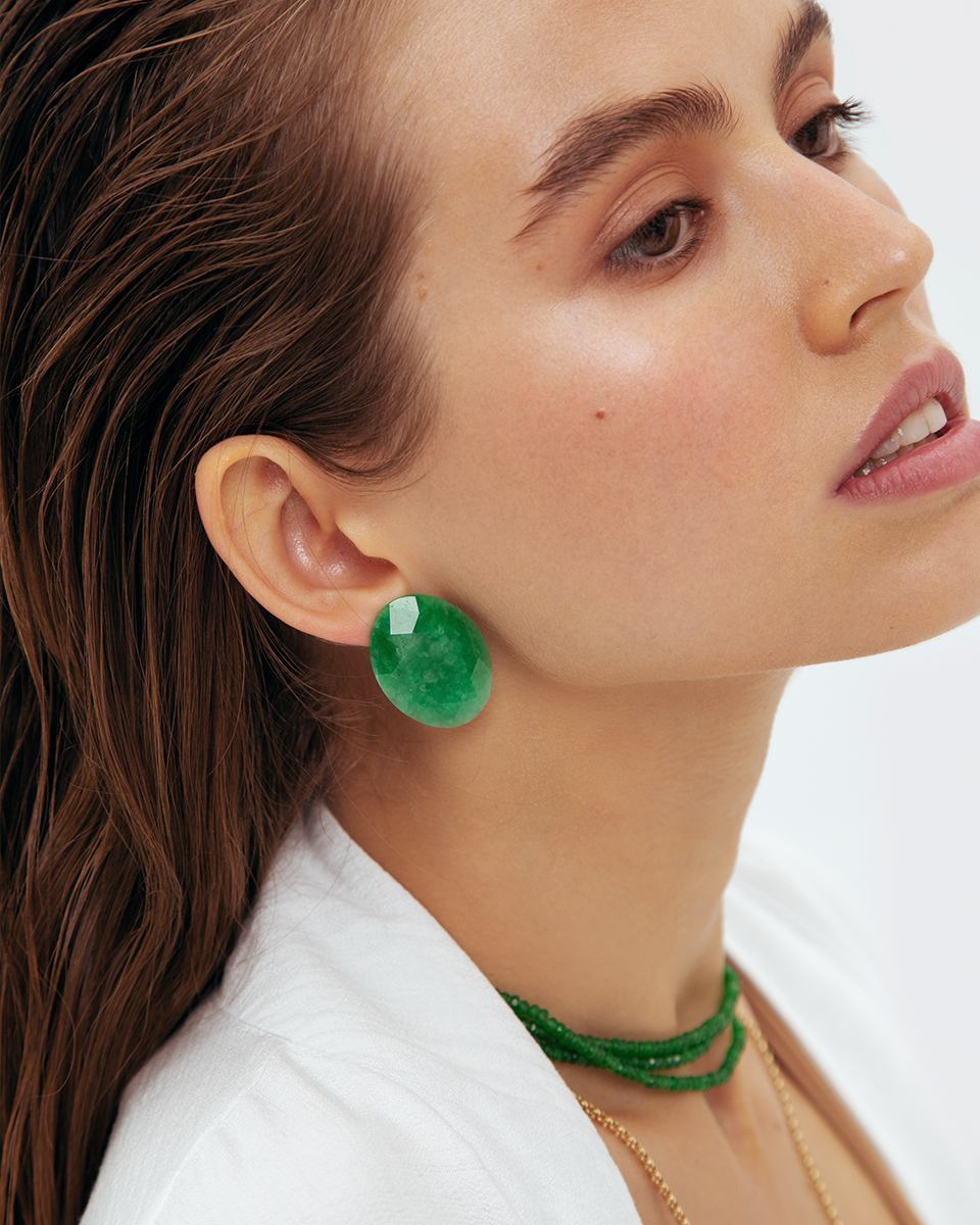 Chrysopras Earrings by Jewelry Lab on curated-crowd.com