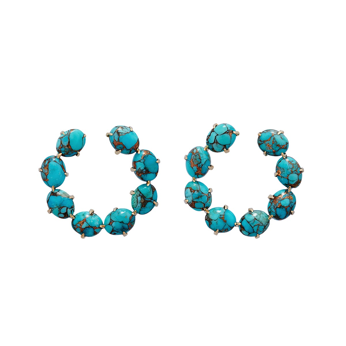 Turquoise Hoops Earrings by Jewelry Lab on curated-crowd.com