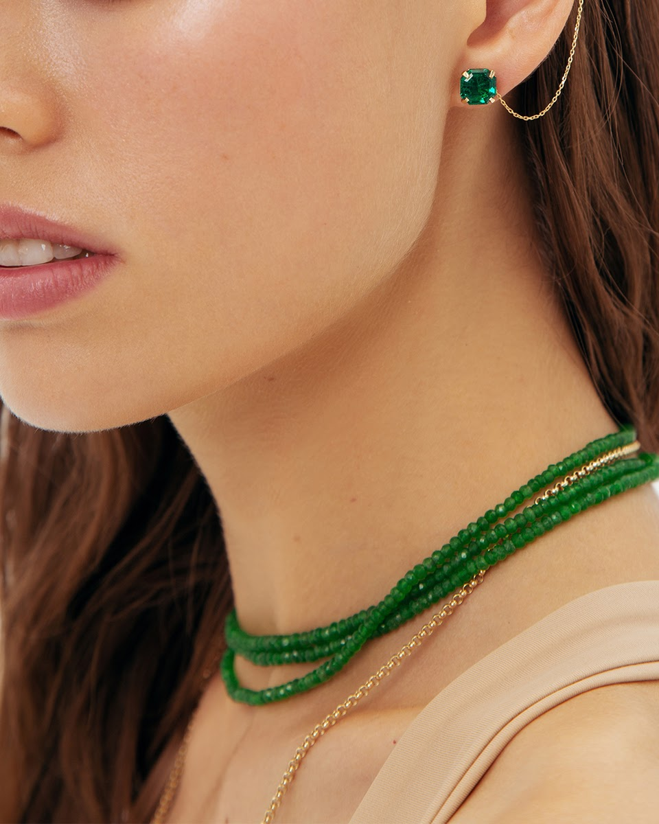 Emerald Bead Necklace by Jewelry Lab on curated-crowd.com