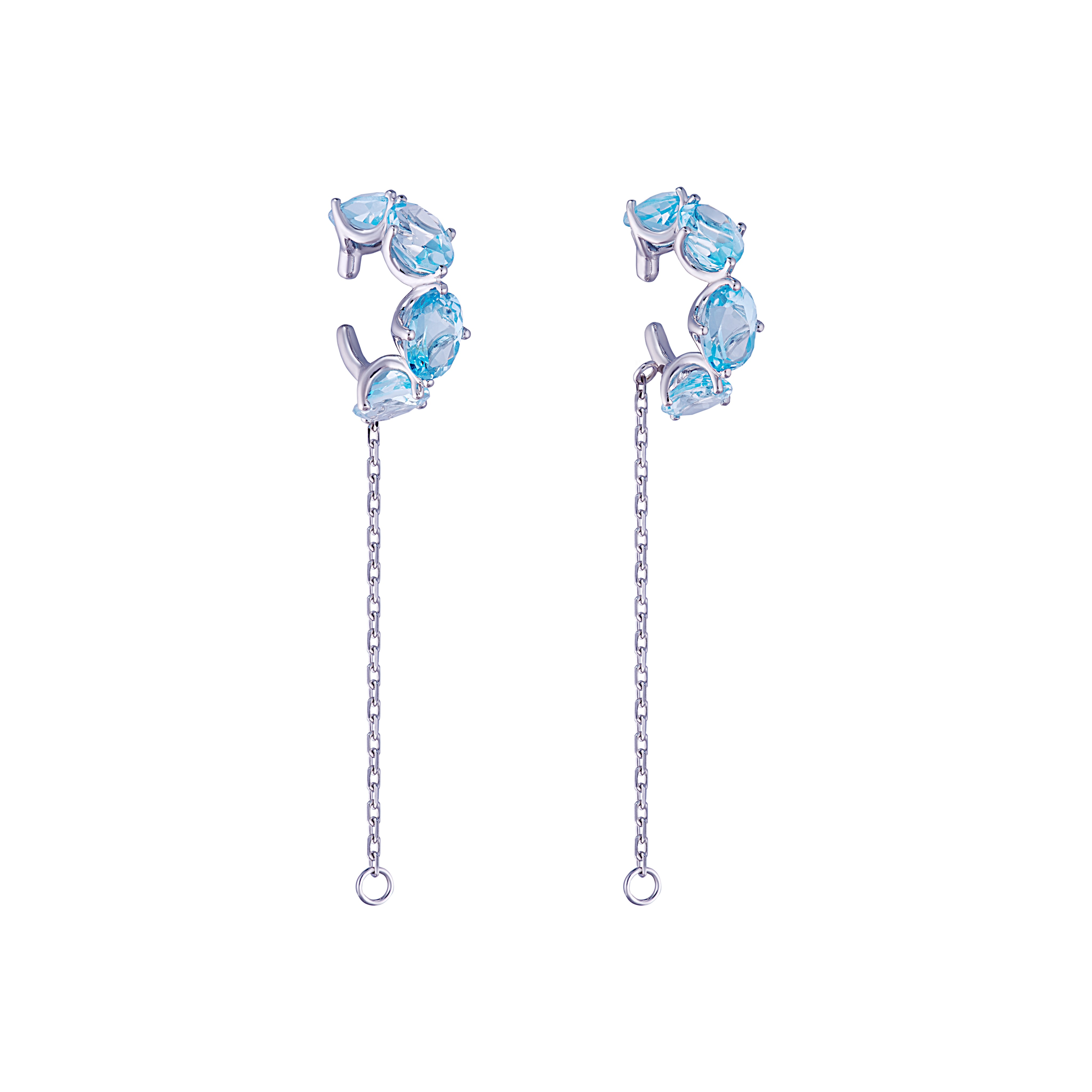 Sky Blue Topaz Earcuff by Jewelry Lab on curated-crowd.com