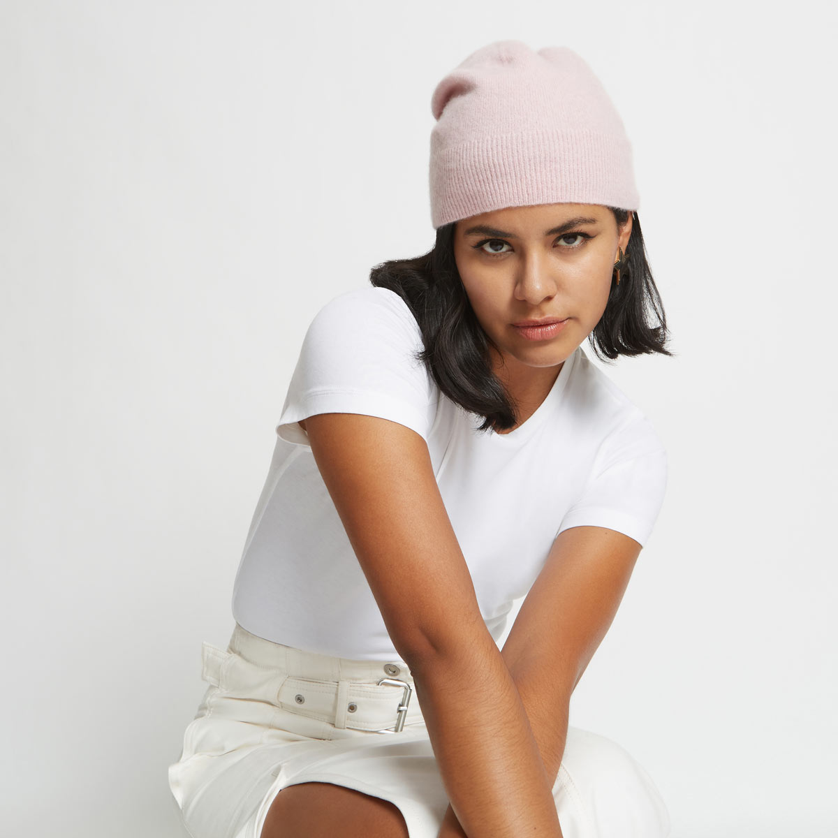 Albie Cashmere Beanie Hat by Santicler on curated-crowd.com