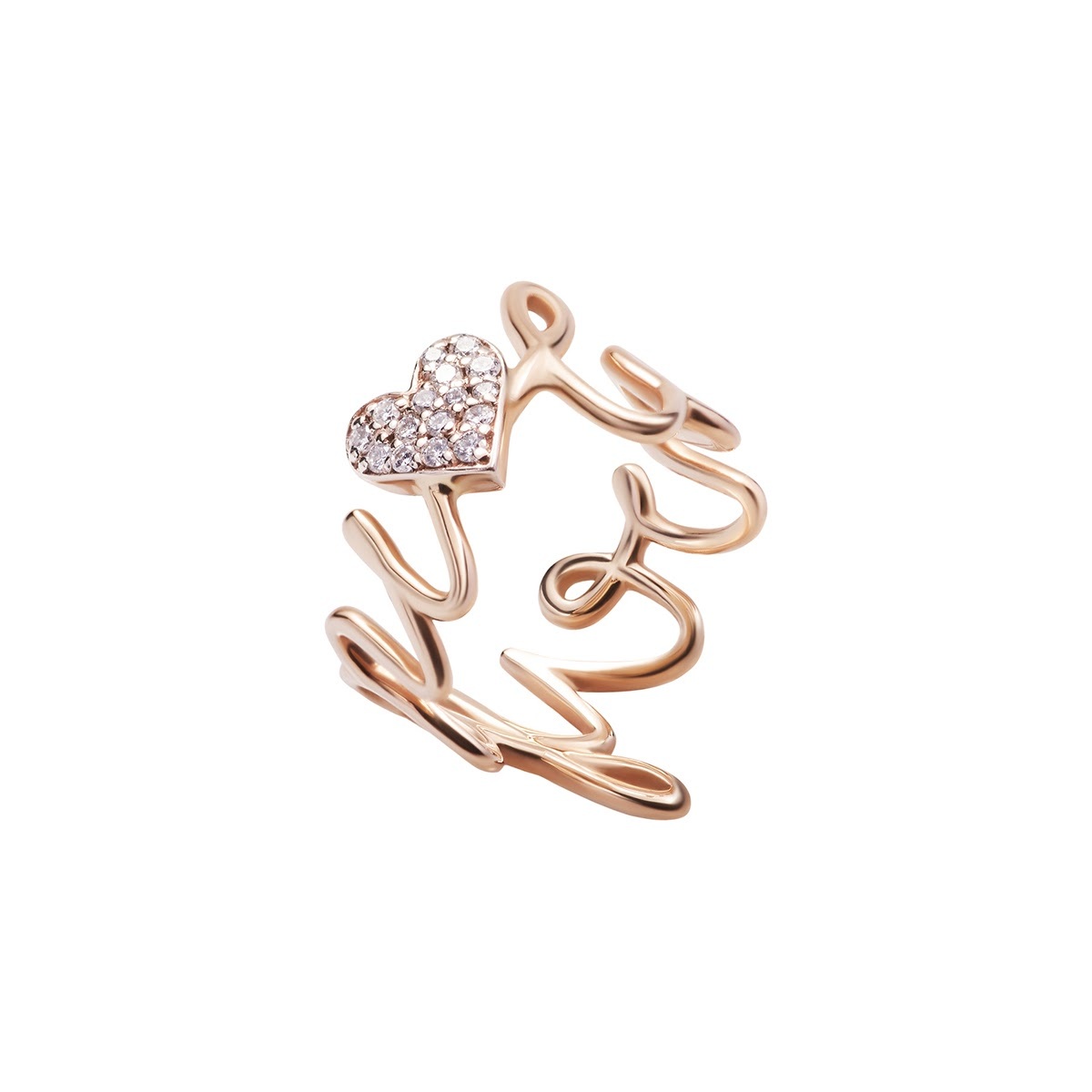 Love You Diamond Ring by Jewelry Lab on curated-crowd.com