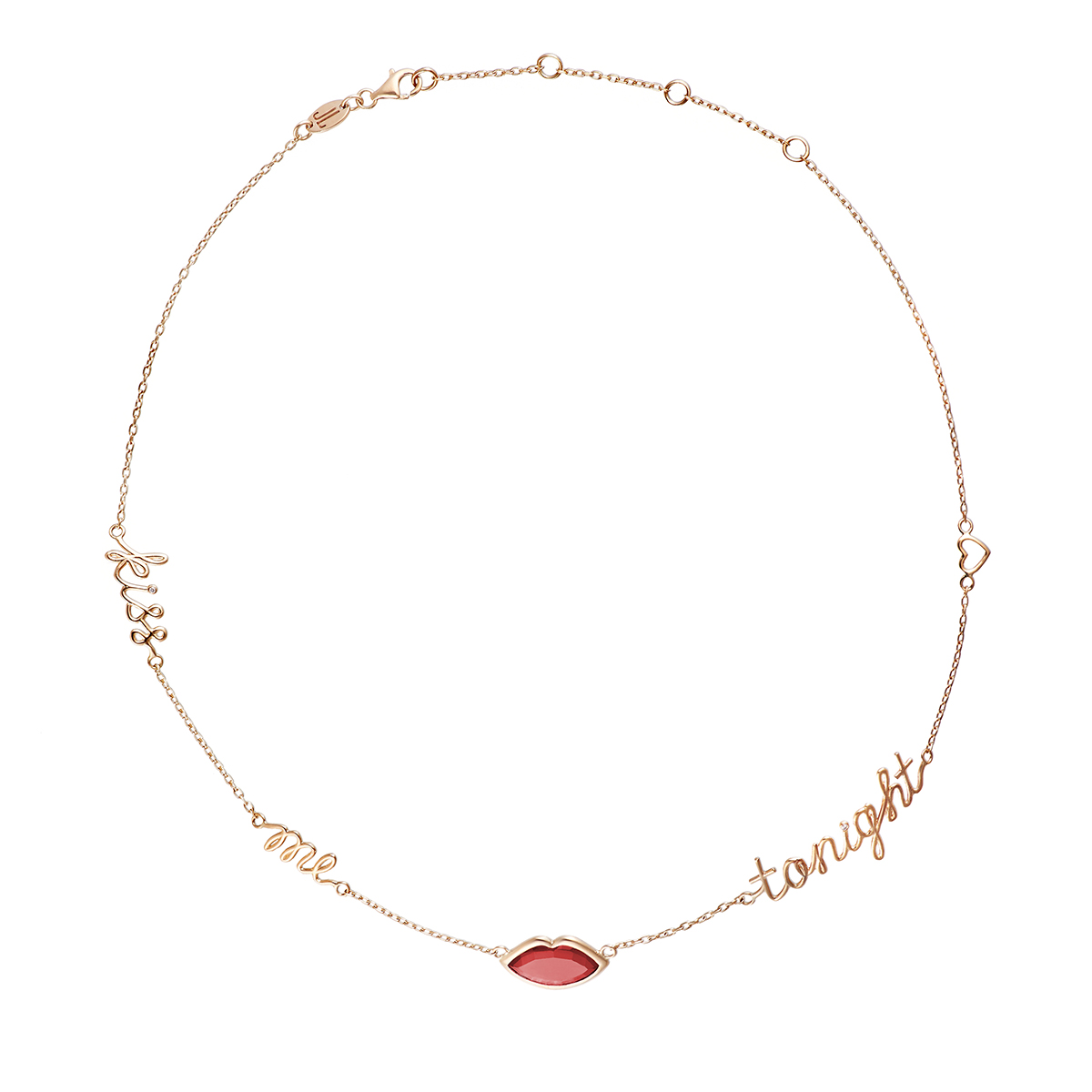 Kiss Me Tonight Yellow Gold Rubilite Necklace by Jewelry Lab on curated-crowd.com