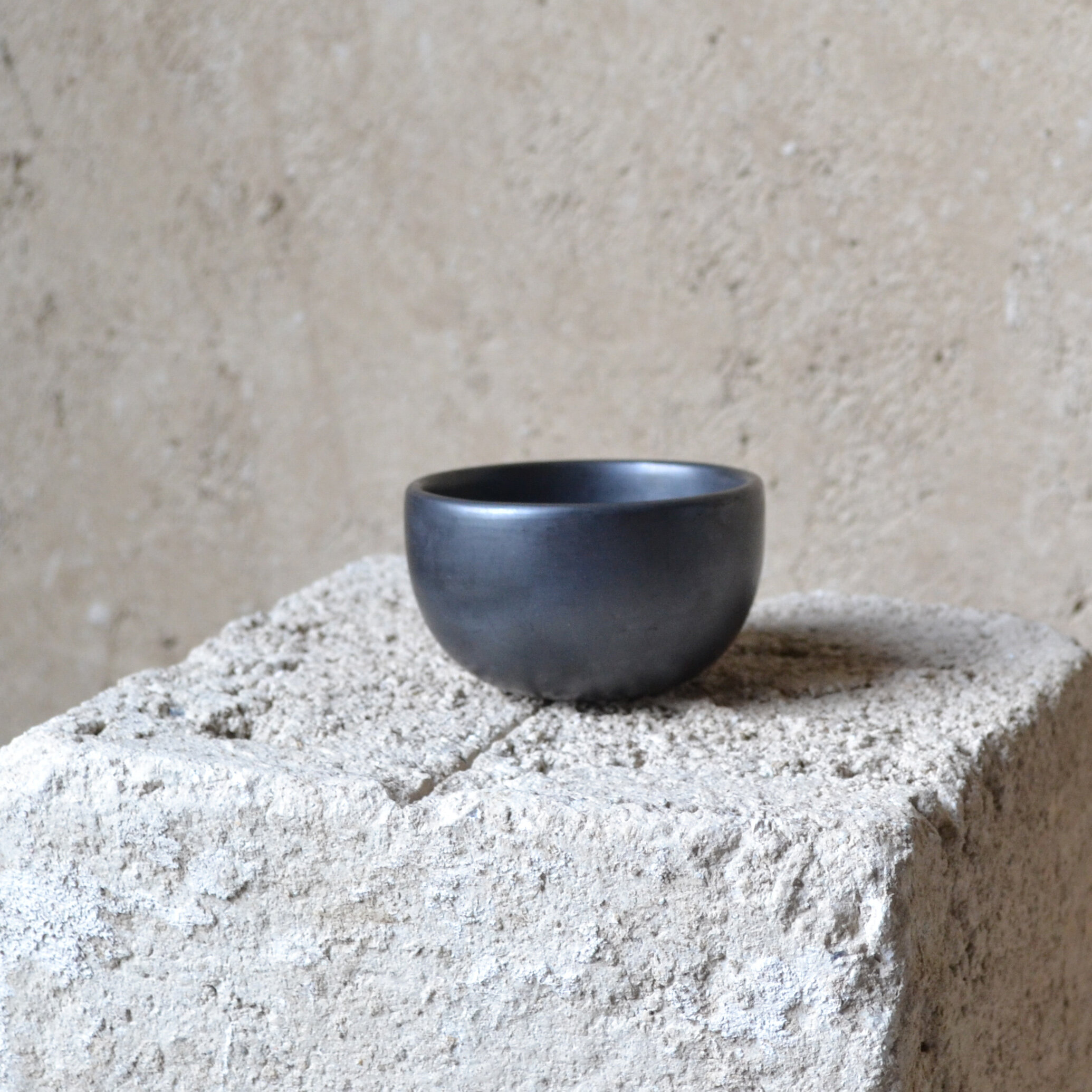 Set of 2 Moon Espresso Cups | Oaxacan Black Clay by La Muerte Tiene Permiso on curated-crowd.com