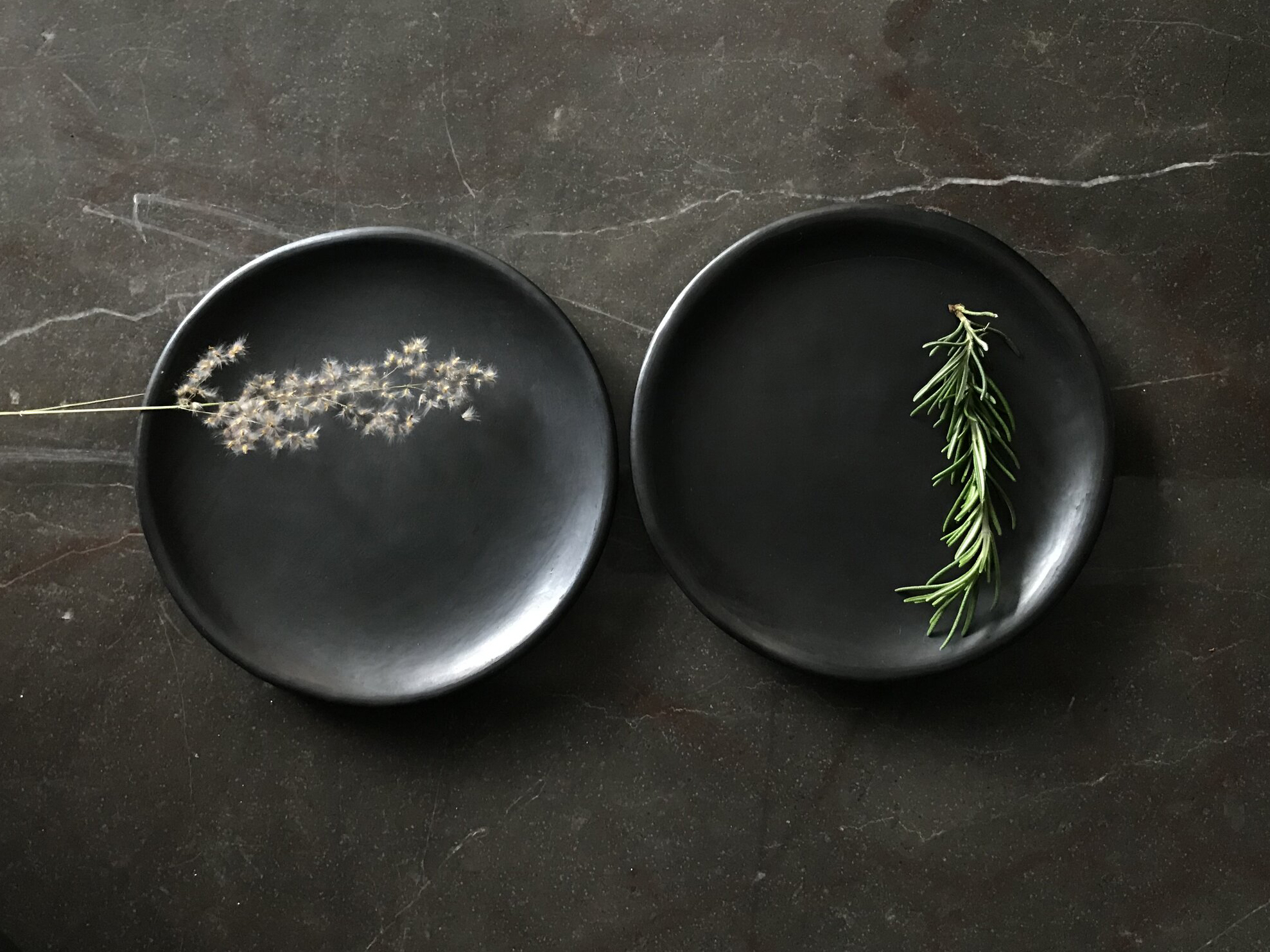 Set of 2 Full Moon Dinner Plates | Oaxacan Clay by La Muerte Tiene Permiso on curated-crowd.com