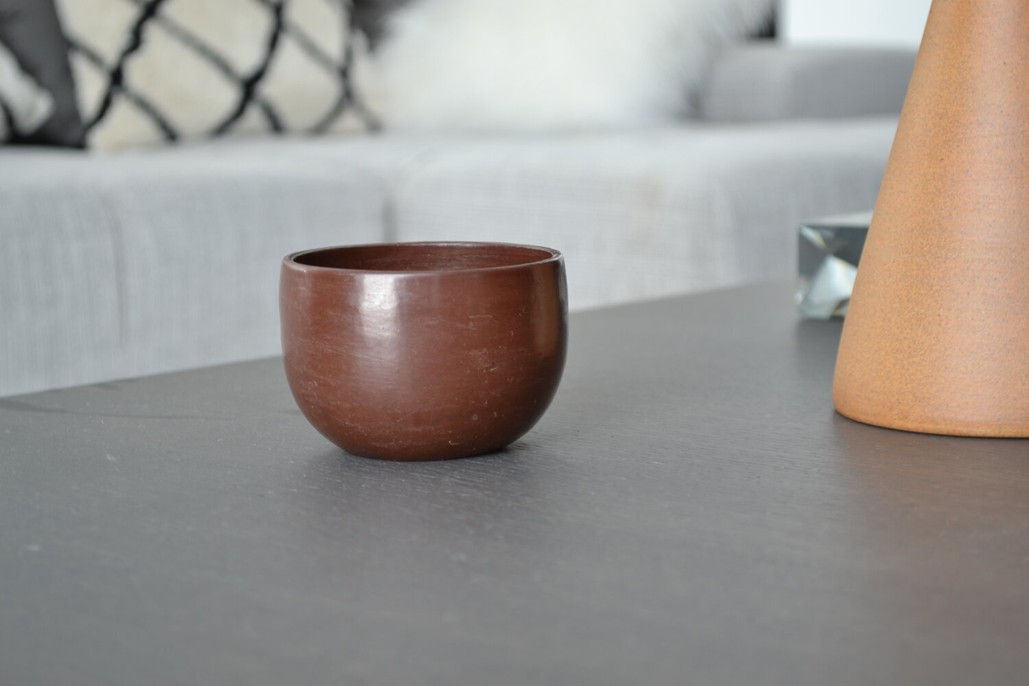 Set of 2 Red Americano Cups | Beeswax Finish by La Muerte Tiene Permiso on curated-crowd.com