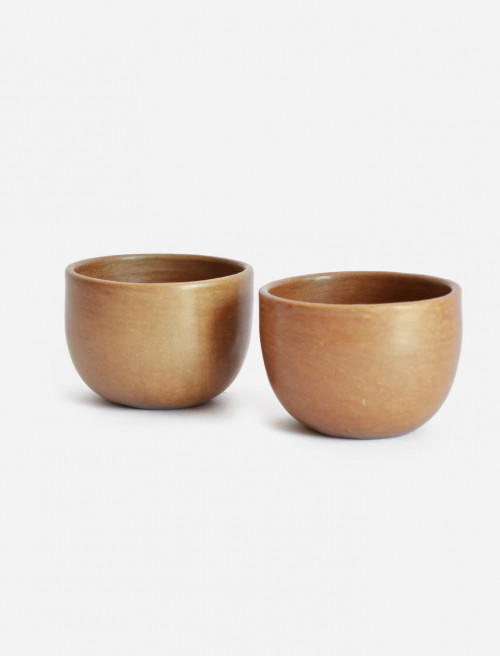 Set of 2 Beeswax Natural Colour Espresso Cups by La Muerte Tiene Permiso on curated-crowd.com