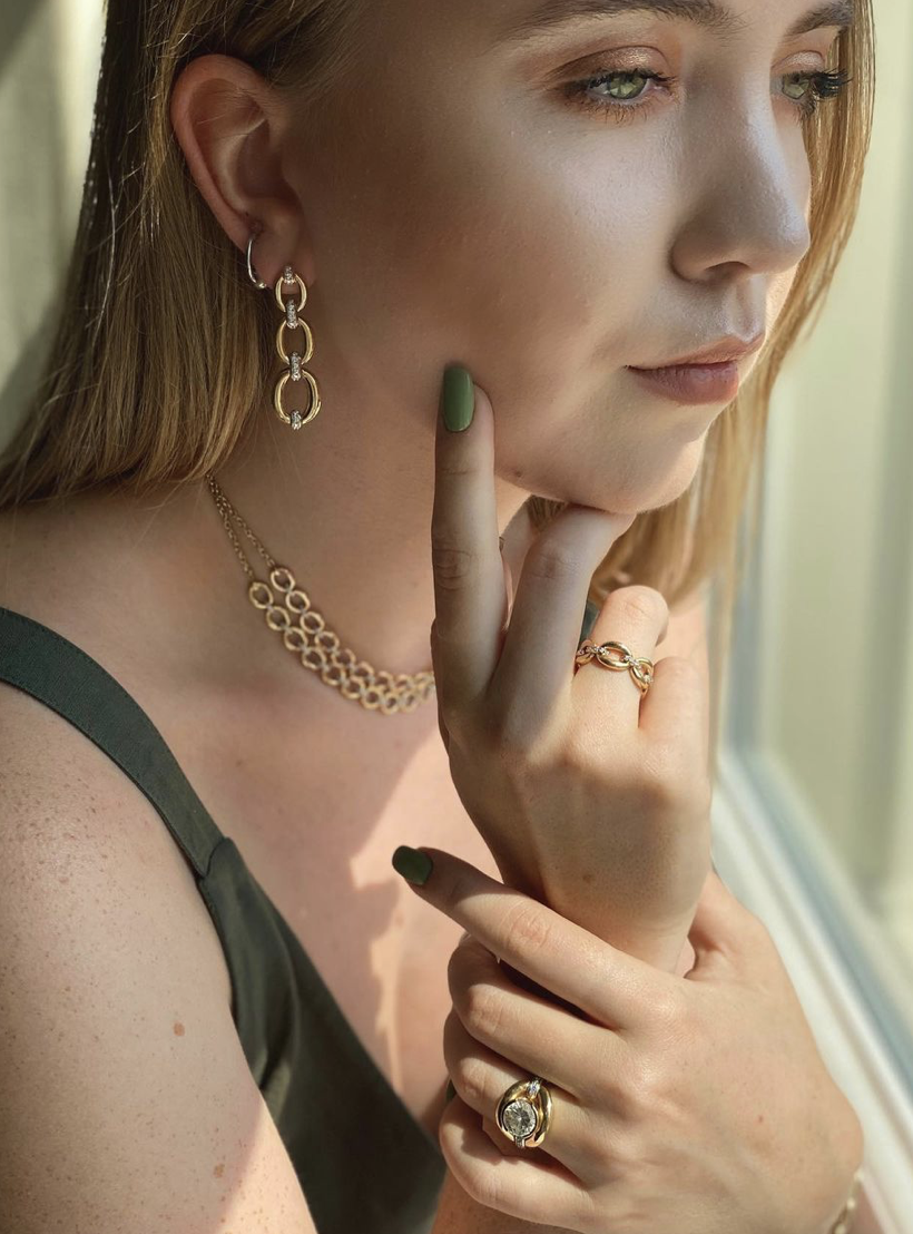 Catena Petite Ring by Nadine Aysoy on curated-crowd.com