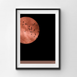 Red Moon - A3 by Christian Azolan on curated-crowd.com
