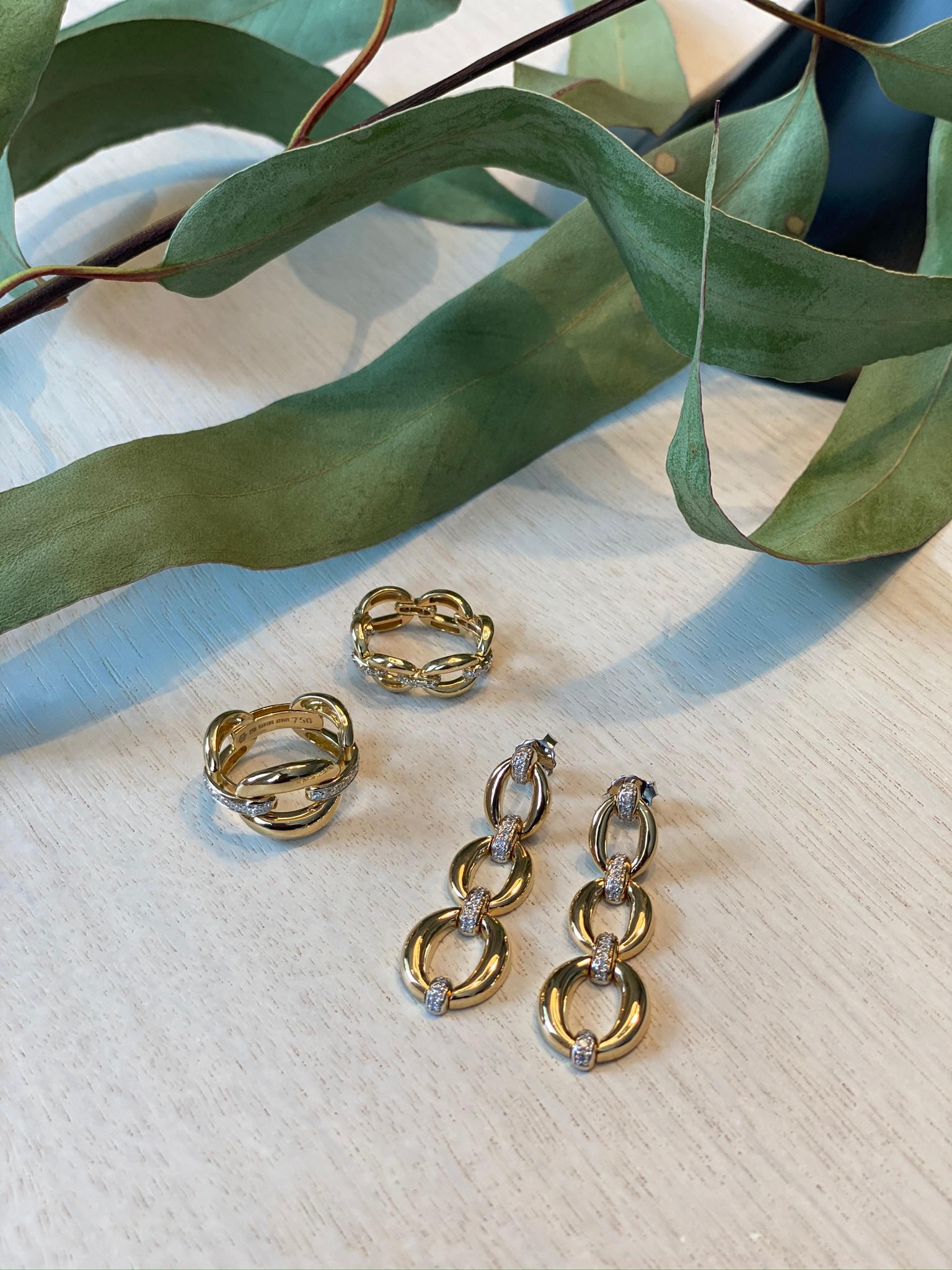 Catena Triple Link Earrings by Nadine Aysoy on curated-crowd.com