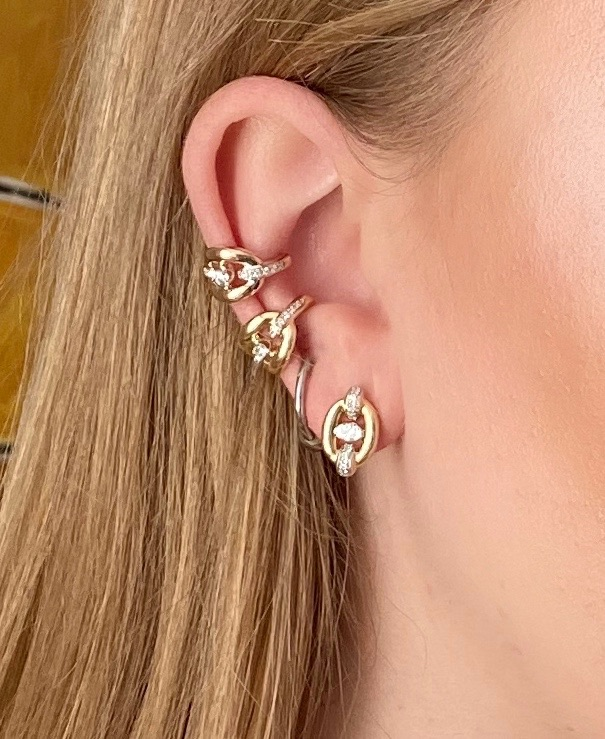 Catena Studs by Nadine Aysoy on curated-crowd.com