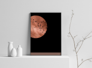 Red Moon - A4 by Christian Azolan on curated-crowd.com