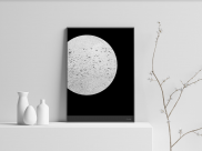 Silver Moon - A4 by Christian Azolan on curated-crowd.com