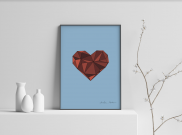 A Complicated Heart - A4 by Christian Azolan on curated-crowd.com