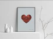 A Heavy Heart - A4 by Christian Azolan on curated-crowd.com