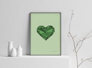 A Thoughtful Heart - A4 by Christian Azolan on curated-crowd.com