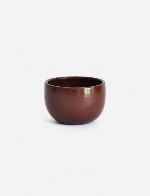 Set of 2 Red Espresso Cups | Beeswax Finish by La Muerte Tiene Permiso on curated-crowd.com