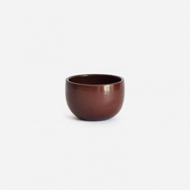 Set of 2 Red Espresso Cups   Beeswax Finish by La Muerte Tiene Permiso on curated-crowd.com