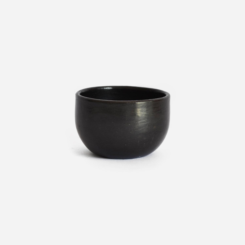 Set of 2 Beeswax Espresso Cups   Black Clay by La Muerte Tiene Permiso on curated-crowd.com