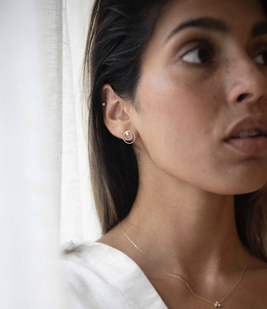 Contour Earrings by N-UE Fine Jewellery on curated-crowd.com
