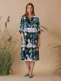 Oversize Peacocks Dress by Ailanto on curated-crowd.com