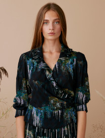 Romantic Wisteria Blouse by Ailanto on curated-crowd.com