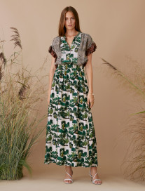 Open Sides Palm Trees Skirt by Ailanto on curated-crowd.com