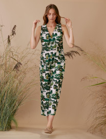 Palm Trees Jumpsuit by Ailanto on curated-crowd.com