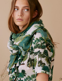 Beige Palm Tree Scarf by Ailanto on curated-crowd.com