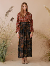 Open Sides Ethnic Palm Trees Skirt by Ailanto on curated-crowd.com