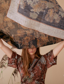 Black Palm Trees Scarf by Ailanto on curated-crowd.com