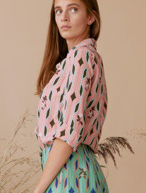 Geometric Print Blouse by Ailanto on curated-crowd.com