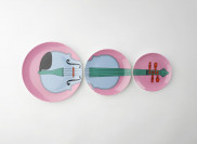 Michael Craig-Martin Violin Plates by Plinth on curated-crowd.com