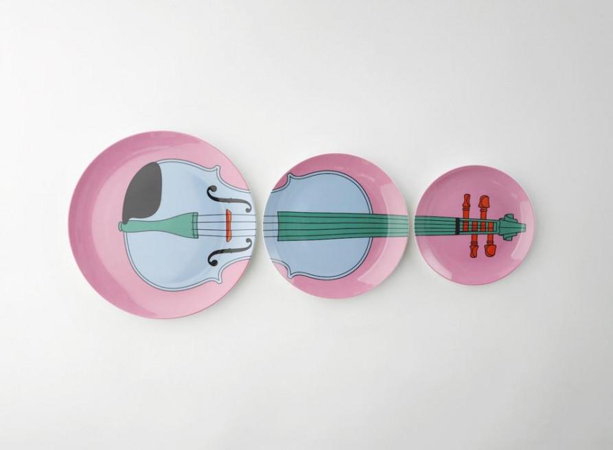 Michael Craig-Martin Violin Plates by Plinth on curated-crowd.com