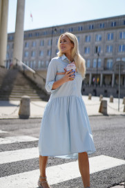 Anne Cotton Shirt Dress by Monica Nera on curated-crowd.com