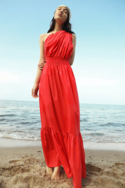 Demi One-Shoudler Maxi Dress by Monica Nera on curated-crowd.com