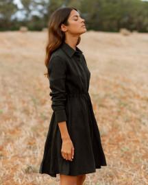 Amalfi Short Dress in Black by Oramai London on curated-crowd.com