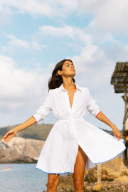 Amalfi Short Dress in White by Oramai London on curated-crowd.com