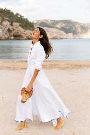 Amalfi Long Dress in White by Oramai London on curated-crowd.com