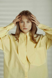 Cotton Oversized Shirt by Z.G.EST on curated-crowd.com