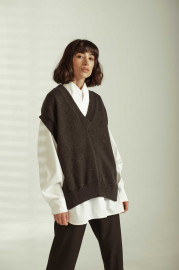 Woven Vest by Z.G.EST on curated-crowd.com