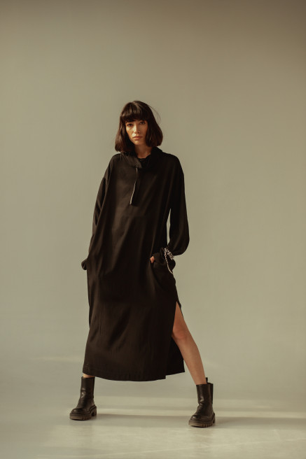 Black Silk Dress by Z.G.EST on curated-crowd.com