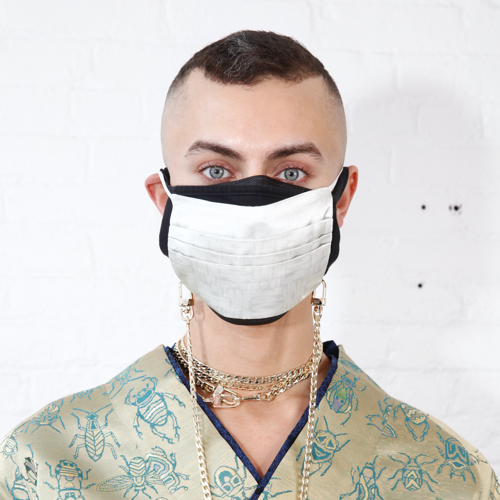 Curb Mask Chain by Neon Hope on curated-crowd.com